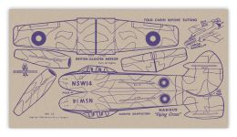 Card № 14 — BRITISH GLOSTER METEOR, Twin Jet Fighter