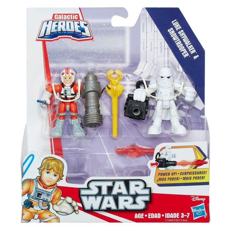 Star Wars Galactic Heroes Luke Skywalker and Snowtrooper | Playskool Heroes