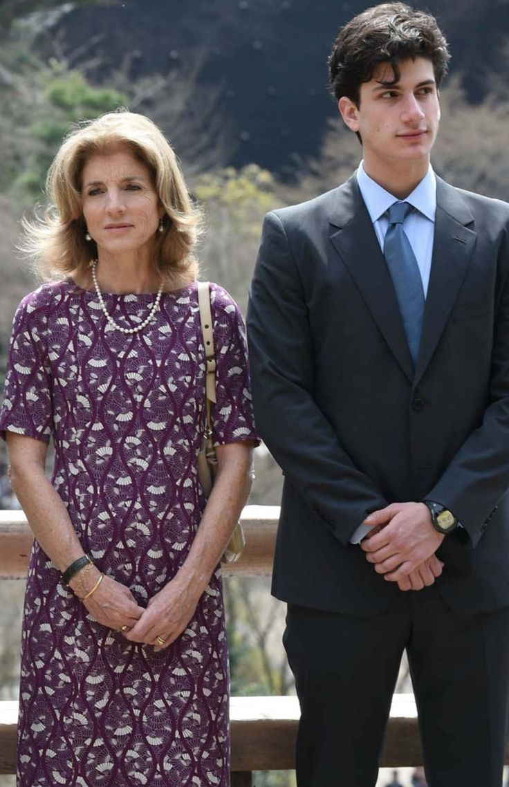 Ambassador Kennedy and son, Jack, in Japan.