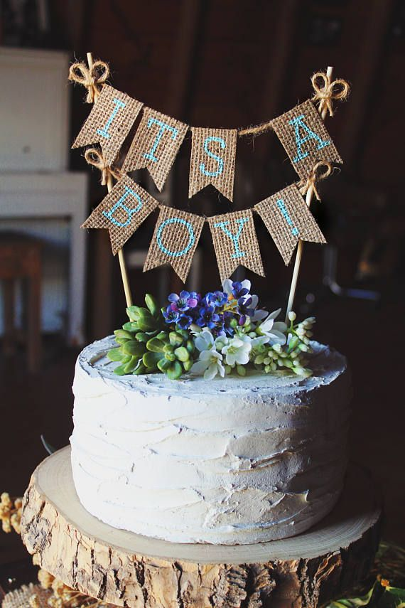 rustic baby shower cake boy baby shower banner