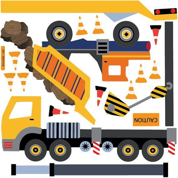 Tela adhesiva pared calcomanías reutilizables, reposicionables y removibles construcción sitio camiones. Volquete, excavadora, excavadora, camión grúa, edificio y hormigonera con carretilla. Hay 4 señales de construcción y 19 conos. Su niño puede diseñar su propia obra con nuestras etiquetas peel & stick que son reusables. Ideal para habitaciones de niños y salas de juegos sin daño a las paredes!  Este listado incluye: Tamaños aproximados de carro: Carro de descarga con rocas 20 w x 14 h…