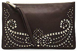 MICHAEL Michael Kors Rhea Studded Large Zip Clutch on shopstyle.com.au