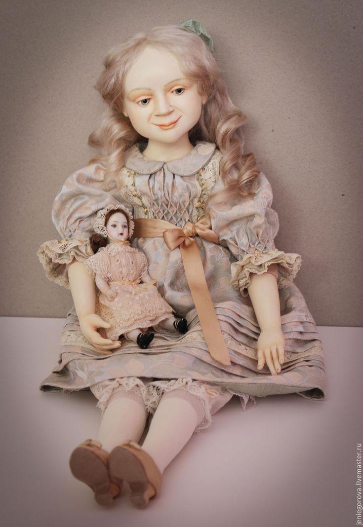 """Купить """"Нежный возраст"""" подвижная кукла - мятный, нежный подарок, кукла ручной…"""