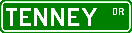 Tenney | Tenney Dr. Street SignTenney Families, Families History, Tenney Dr.