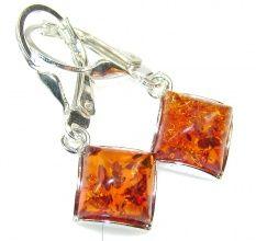 Petite Polish Amber Sterling Silver earrings
