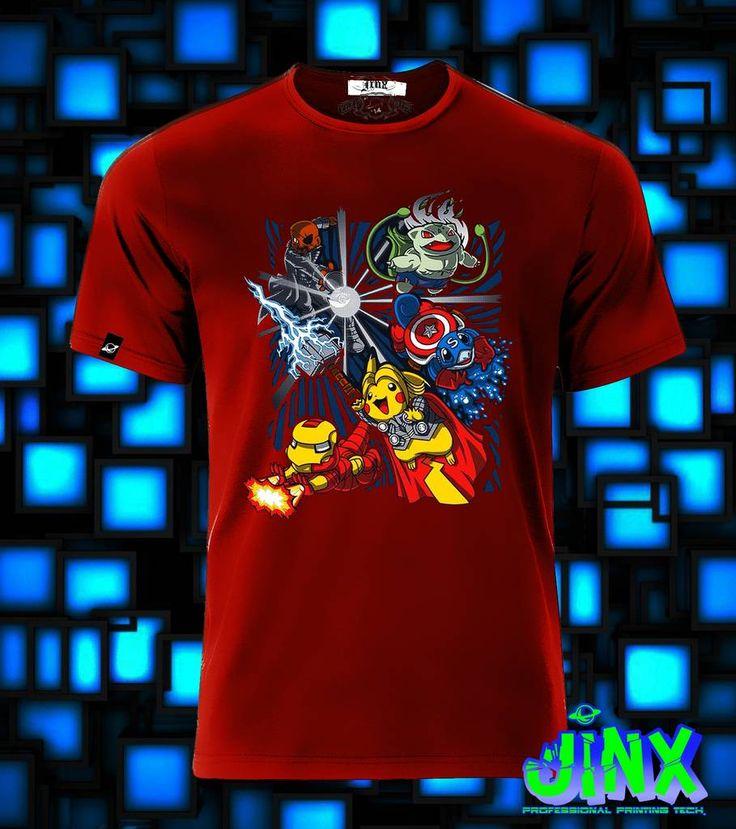 $179.00Playera o Camiseta Pokemon Avengers Pikachu - Jinx
