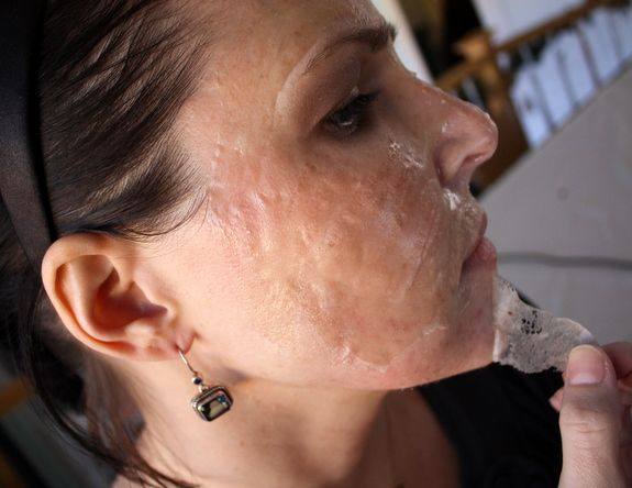 Homemade pore strips---- creepy and fascinating at the same time.