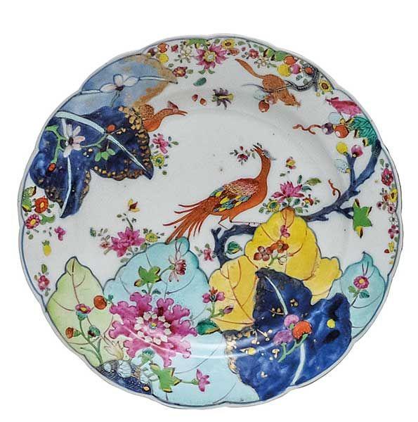 Prato em porcelana Companhia das Índias, decorados em r..