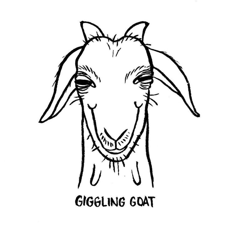 DAY 7 of Karo Rigaud's 2016 illustrated Advent Calendar: the Giggling Goat… #illustration #illustrator #drawingoftheday #drawing #abc #adventskalender #adventcalendar #calendar #christmas #graphicroozane #goat #goat #animalsofinstagram #giggles #blackandwhite #abecedaire #characterdesign #comic @anorakmag