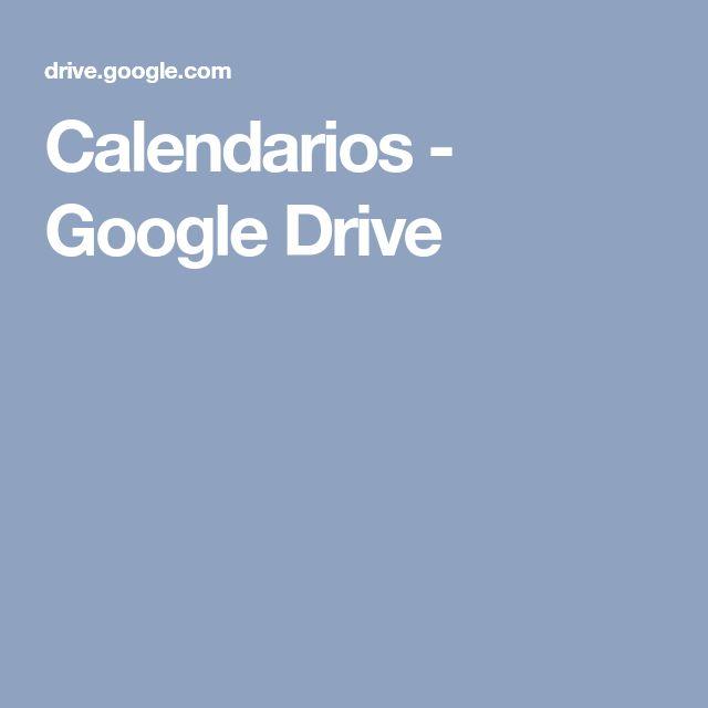Calendarios - Google Drive