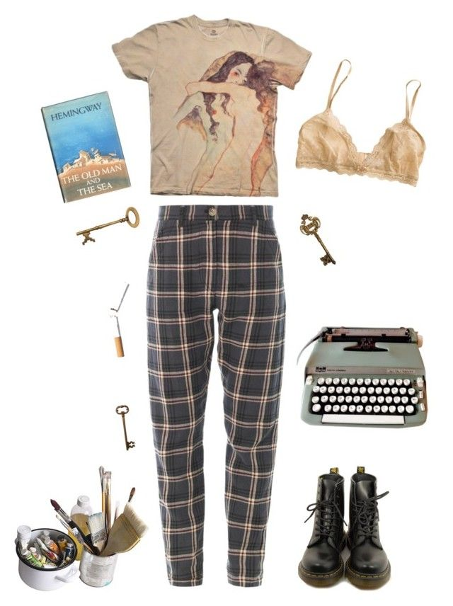 """old boy"" by unpleasantunicorn on Polyvore featuring Eberjey, Dr. Martens and Mason's"