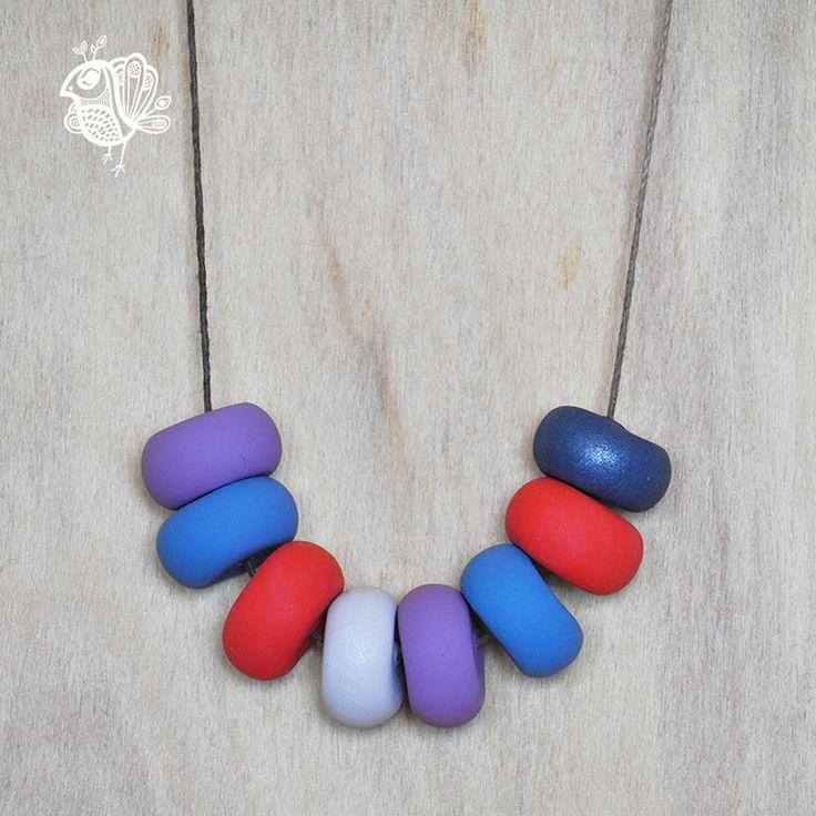 Handmade Coin Clay Necklace - Hippo