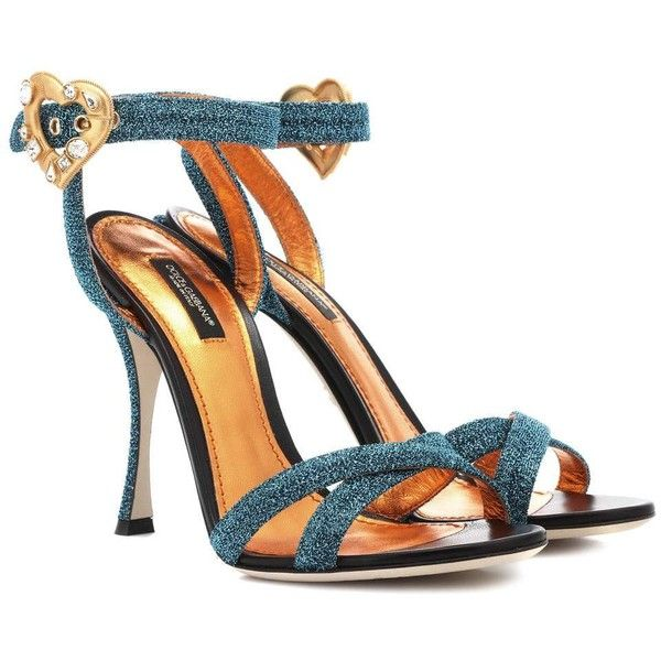 Dolce & Gabbana Embellished Sandals ($895) ❤ liked on Polyvore featuring shoes, sandals, turquoise, dolce gabbana shoes, turquoise sandals, decorating shoes, turquoise blue shoes and dolce gabbana sandals