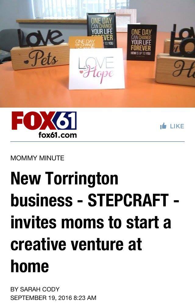 Superb #STEPCRAFT On The NEWS! CT Mommy Minute W/ @sarahcodymedia Thanks Sarah!