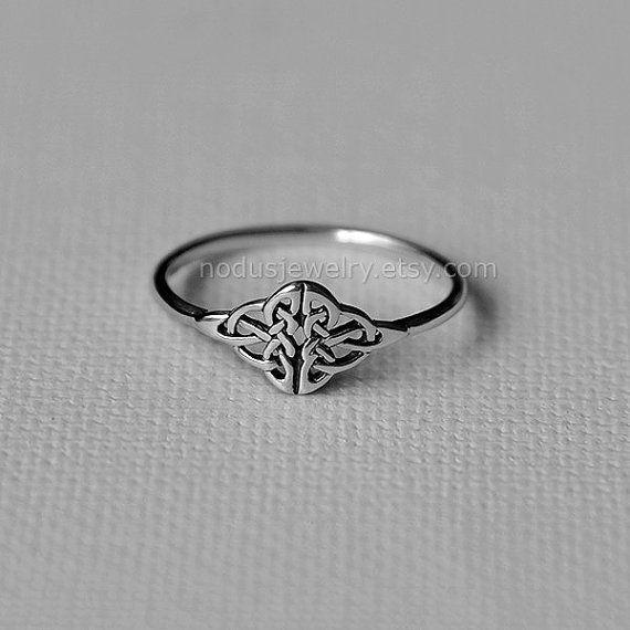 Anillo nudo celta anillo de plata esterlina anillo por NodusJewelry