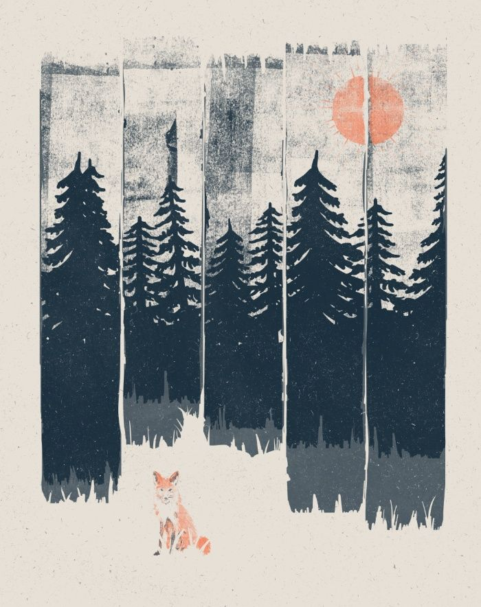 """1000drawings: """"  A Fox in the Wild.. by NDTank """""""