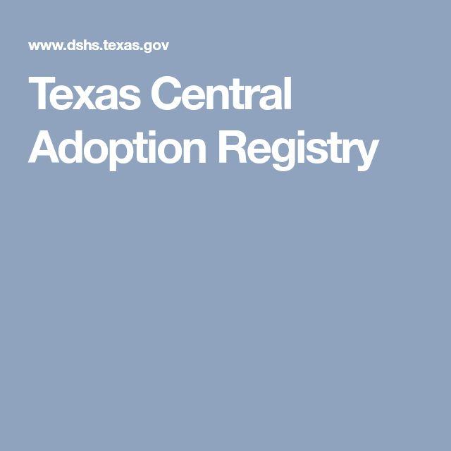 Texas Central Adoption Registry