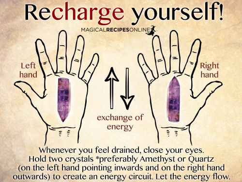 witchcraftmagazine: How to Recharge yourself. Change your life...