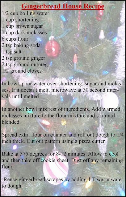 Delicious Gingerbread house recipe