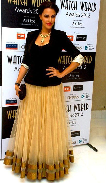 Neha Dhupia in an #Anita Dongre skirt