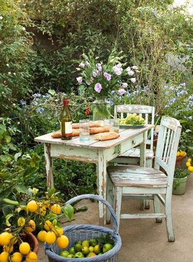Charming Outdoor Furniture, Shabby Chic Outdoor Furniture Garden Benches Table And  Chairs In Garden Shabby Chic Patio Designs ~ Shabby Chic Outdoor Furniture  Design