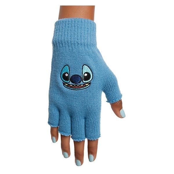 Disney Lilo & Stitch Face Fingerless Gloves | Hot Topic (€6,98) ❤ liked on Polyvore featuring accessories, gloves, knit gloves, fingerless gloves, blue fingerless gloves, disney and blue gloves