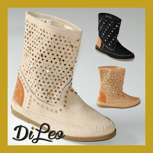News! Wide Range Colour Summer Studded Boots 191 Di Leo Calzature shoes www.dileocalzature.it