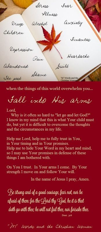 prayers and poems for women of faith | God's Sustaining ...