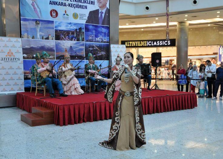 Keçiören Belediyesi ve Kazakistan Büyükelçiliği iş birliği ile Antares AVM'de düzenlenen Astana Günlerinde eğlenceli anlar