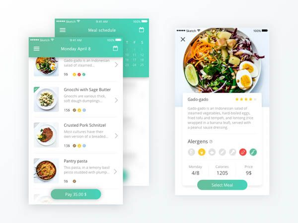 Pin on Mobile UX Food