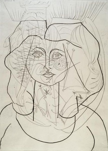 PabloPicasso, Weeping Woman II, Portrait of Francoise,1946