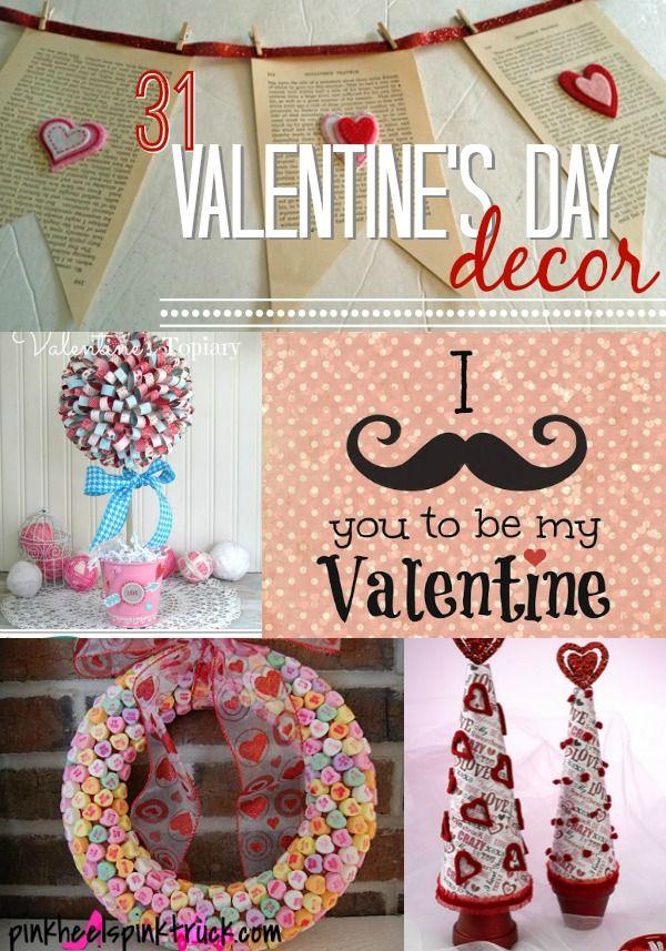 31 Ideas for Valentine's Decor via pinkheelspinktruck.com