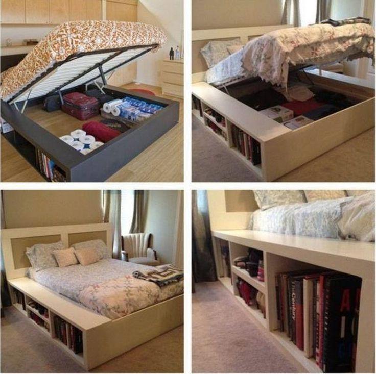 king size bed storage - Under Bed Storage Frame