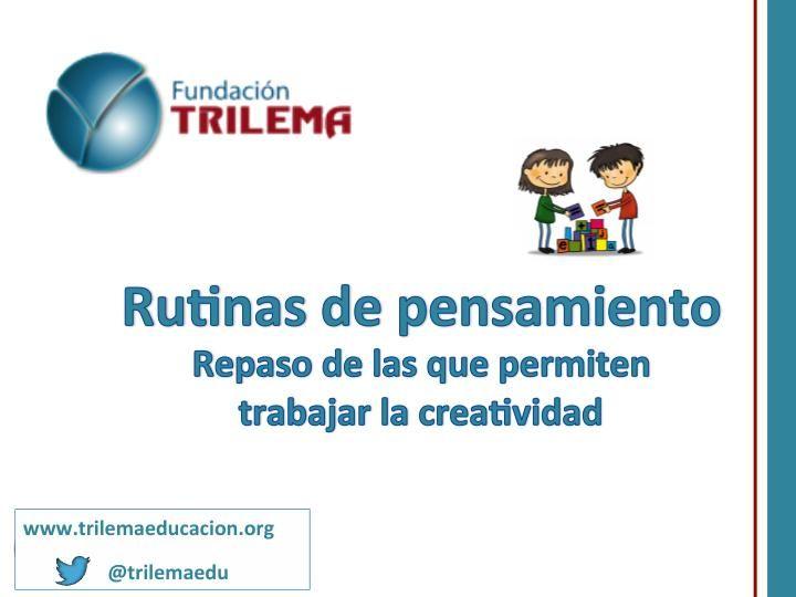 Otros fantásticos materiales que queremos compartir con todos vosotros, realizado por la Fundacion Trilema: TRILEMA, un fabuloso equipo de profesionales especializado en formación, innovación y gestión del cambio en el …
