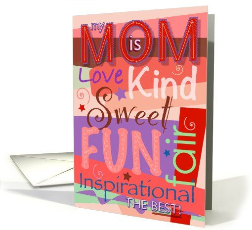 my MOM is THE BEST! Happy Mother's Day! card by  © John H. Johnson - Winner of this month's 'Simply the best' Contest at gcucommunity - And, if you change the inside verse, it could be used for Mom's birthday, or any other occasion too! ;)