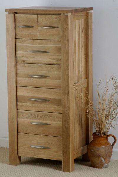 Galway Solid Oak Funiture Range Oak Tall Chest of Drawers   Oak Furniture Land    www.oakfurnitureland.co.uk
