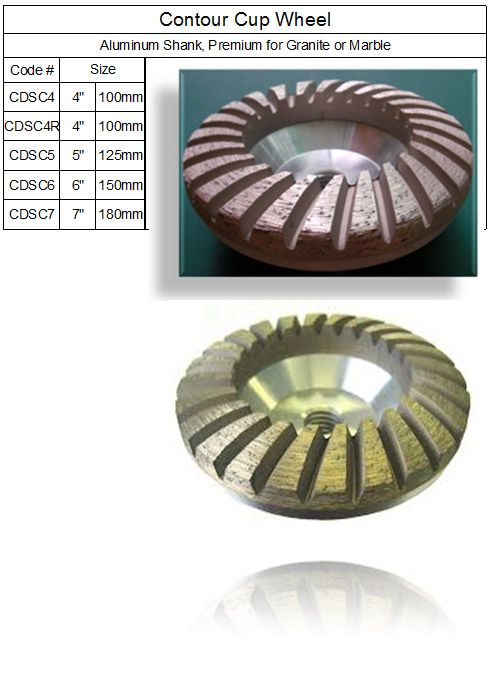 Contour ( Convex ) Turbo Grinding Cup Wheel, Convex Turbo Grinding Cup Wheel Diamond Tools made by RM Tech Korea (StoneTools Korea®) provides the highest quality; world top selling more than 500 sets monthly