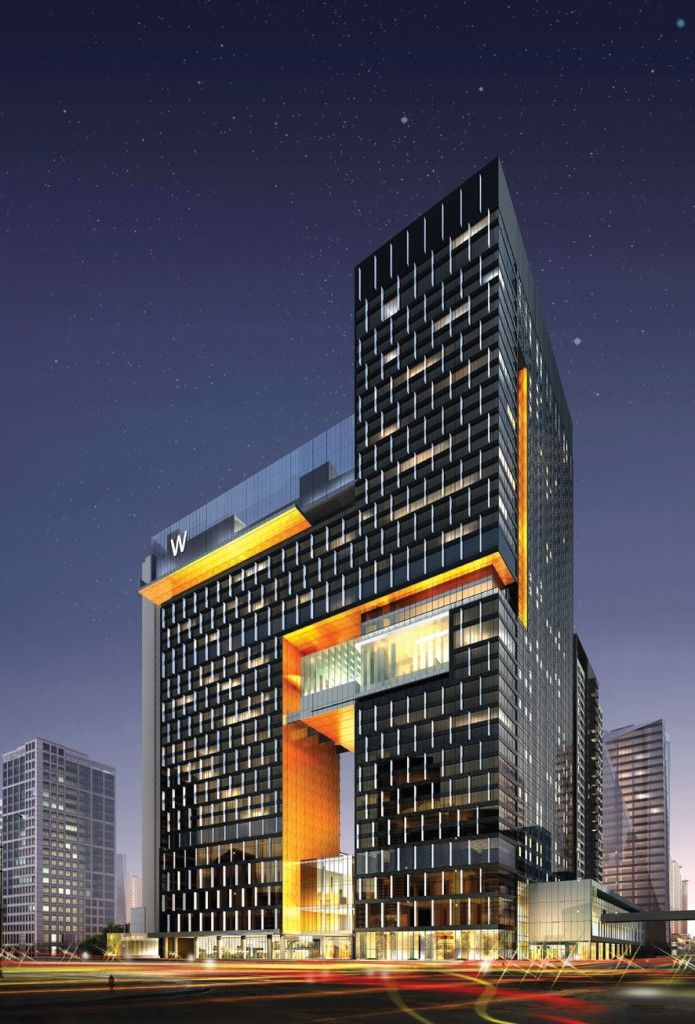 Rendering of W Hotels 'W Guangzhou' - set to open October 1, 2012