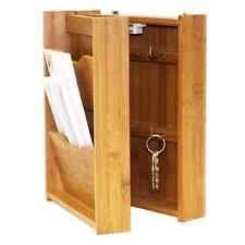 Настенное крепление письмо стойка и держатель для ключей. почты организатор бамбуковый деревянный ящик для хранения дома