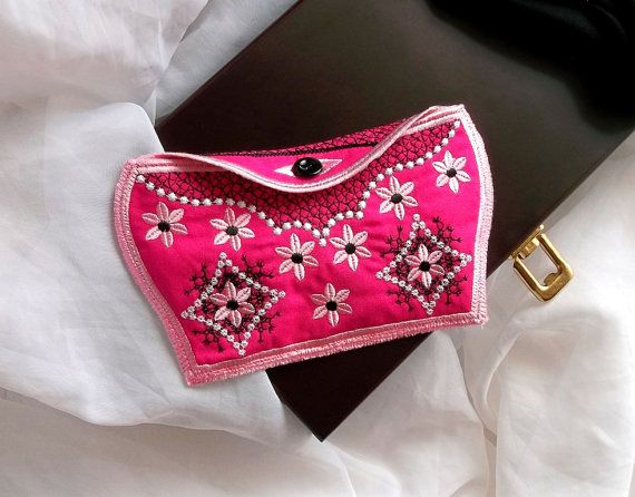 Wallet pink - purchase - pocket - Machine embroidery digitization./INSTANT DOWNLOAD