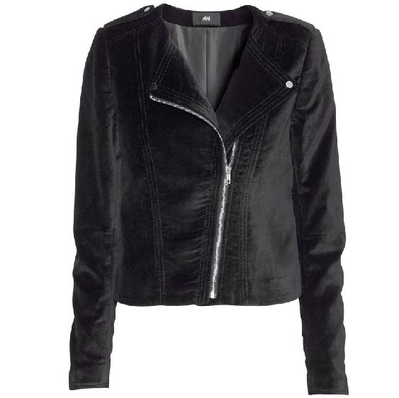 Black jacket velvet long sleeve slim collarless ladies coats HY-132305114