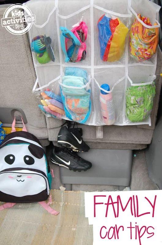 Organizing Car Use shoe holders for handy car Organization