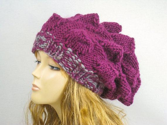 Hand Knit Hat Womens Hat Winter Fashion Winter by easycrochet, $30.00