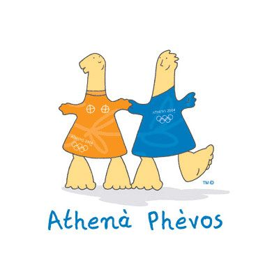 '04 athens summer olympics mascots  (I was in Greece for this too! :) )