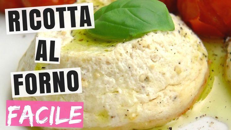 RICOTTA FATTA IN CASA⎮Ricotta Cotta al Forno⎮100% Vegetale
