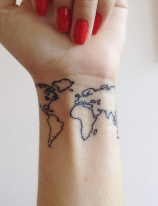 25 best world fever images on pinterest world maps worldmap and world map tattoo not sure about the placement but how cool would it be to have a small world map somewhere and just get a dot of color everywhere you gumiabroncs Gallery