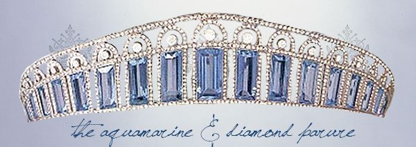 ♔ TIARAS OF THE ROMANOVS ♔ Alexandra Feodorovna's Aquamarine & Diamond Tiara (Parure) The last Empress of Russia had a fabulous jewel collection, though she was not known for her frivolity. Many of Alexandra's personal tiaras and parures were kept in her own Mauve Room, under her own lock and key where she would retrieve them only for very special occasions. This beautiful diamond and aquamarine kokoshnik belonged to the Tsarina personally.
