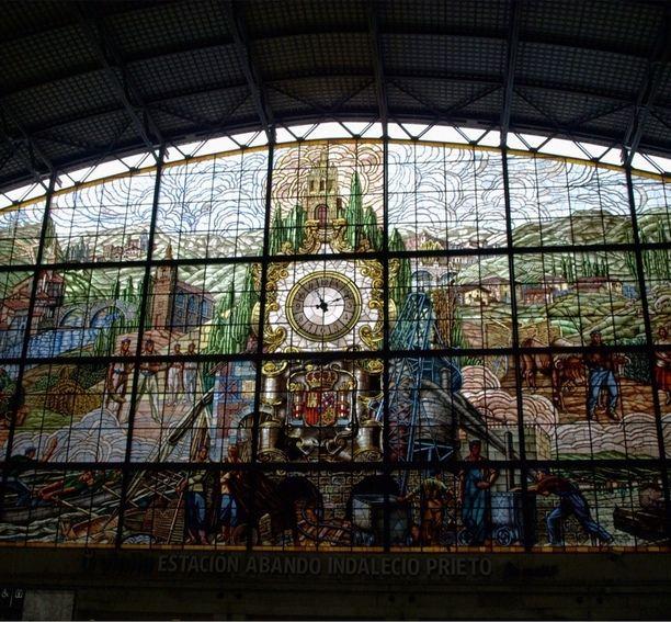 Estación de Abando Indalecio Prieto, Bilbao, Spain — by Diane Wong. The window of Bilbao train station.