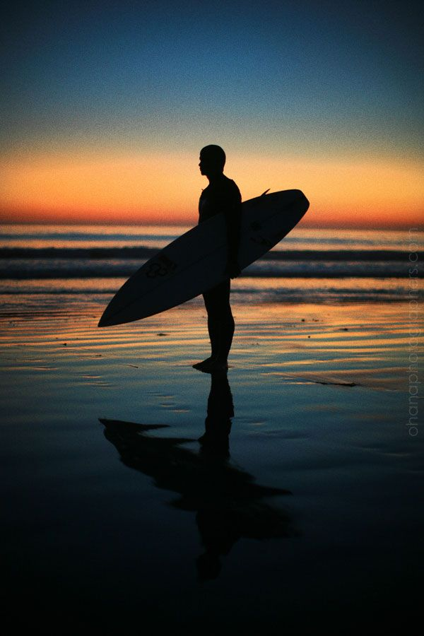 love surfer silhouettes...here's one at carlsbad beach ...