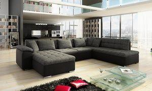 De Grenada U-bank past in de eigentijdse woonkamer en heeft comfortabele zitplaatsen met golfveren en 10 cm schuim op elastische banden